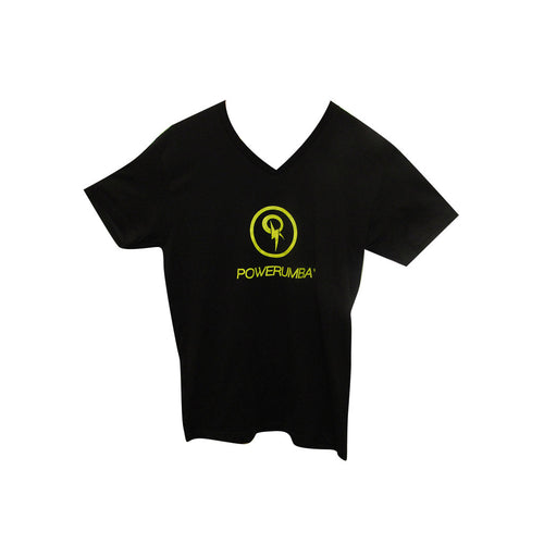Black T-shirt with Yellow Logo