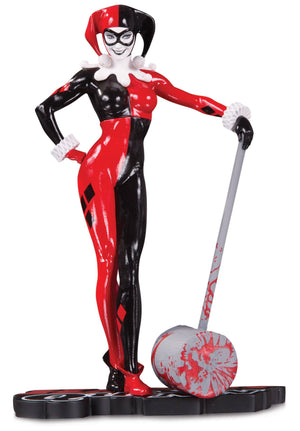 Harley Quinn Red White & Black Statue by Adam Hughes