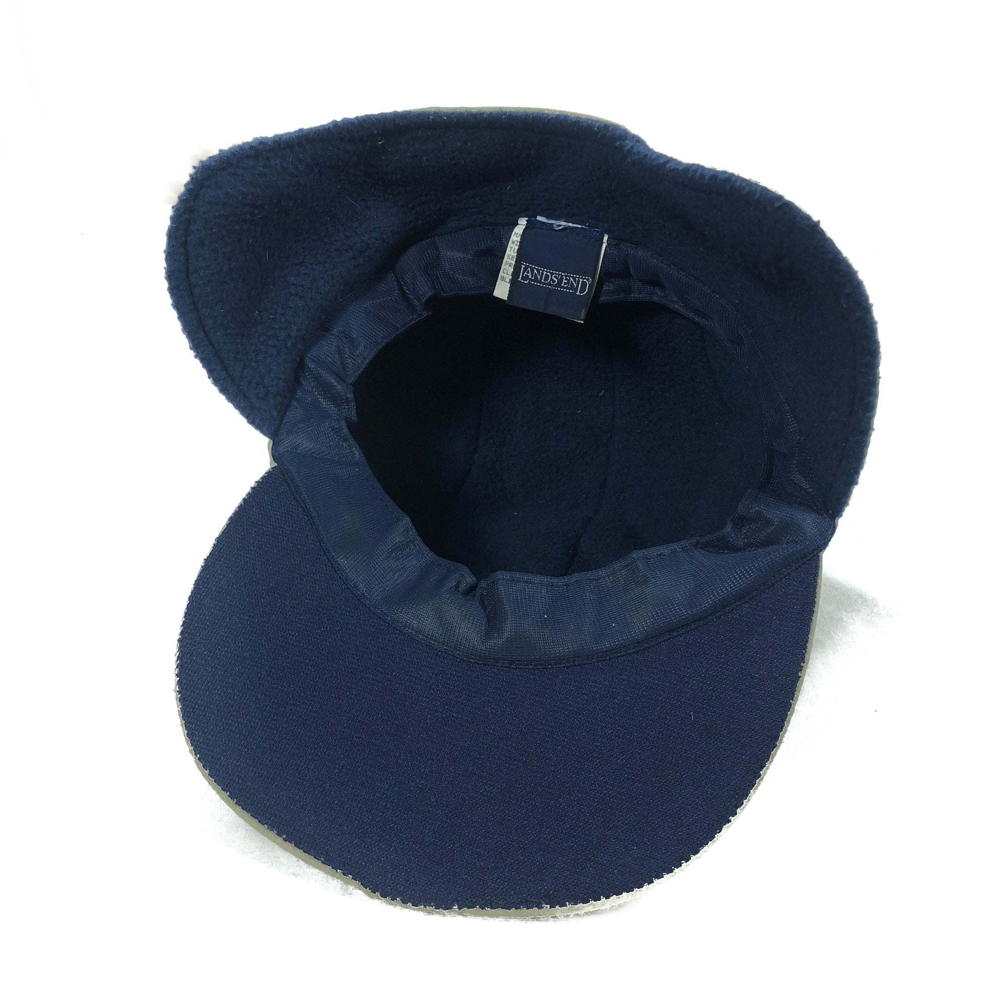Land's End fleece lined nylon 5 panel hat size s/m