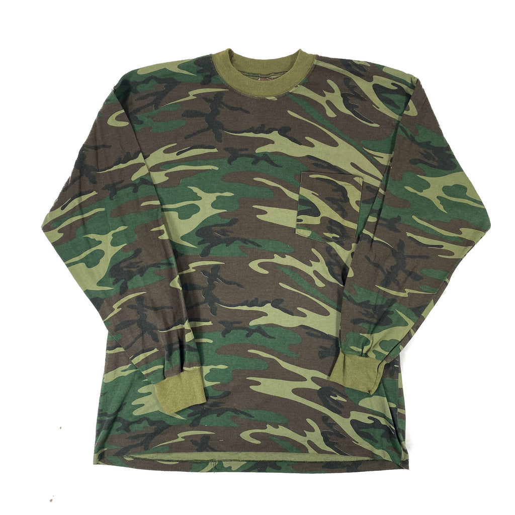 80s made in usa ranger  Camo long sleeve tee XL
