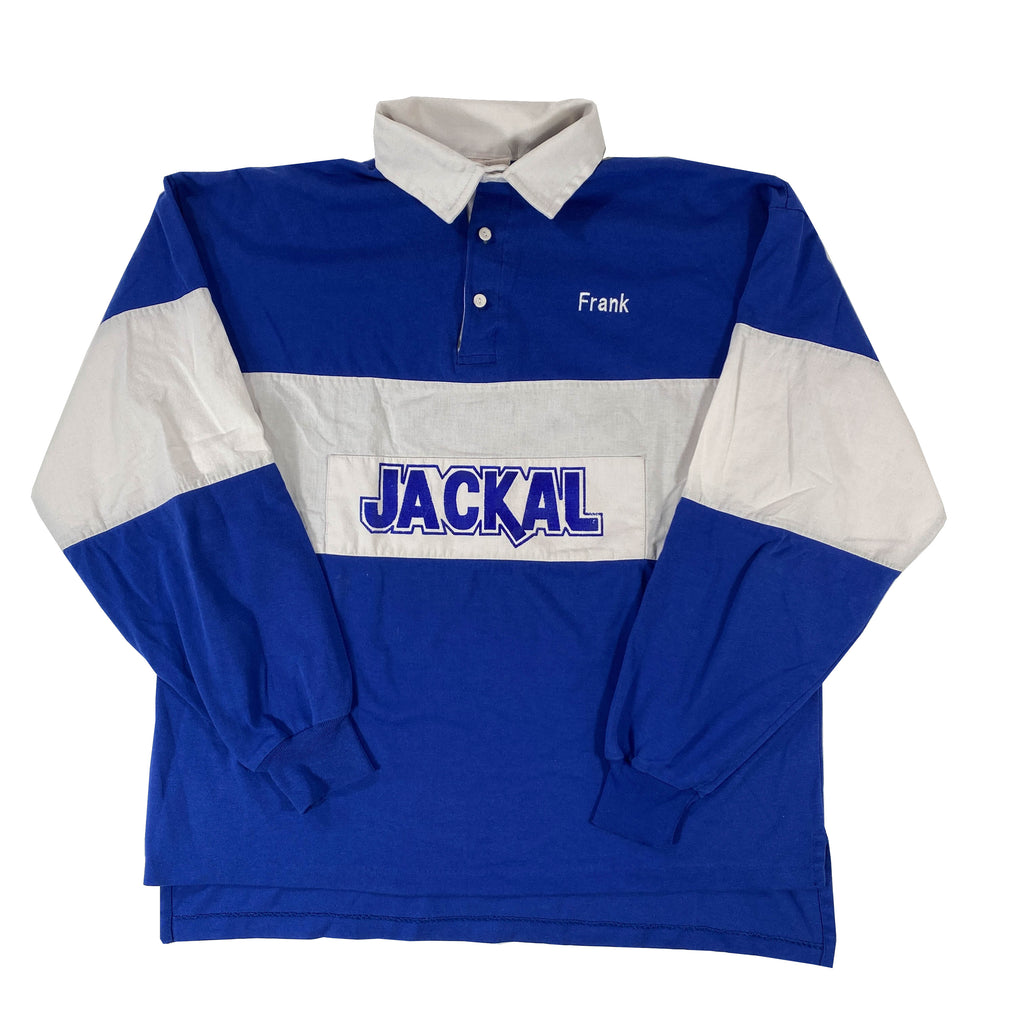 80s made in usa jackals high school rugby shirt XL