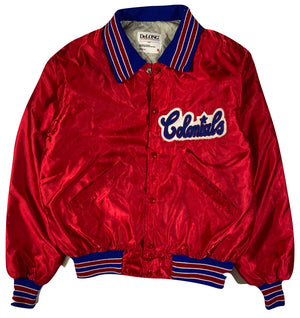 80s Colonials satin jacket. medium
