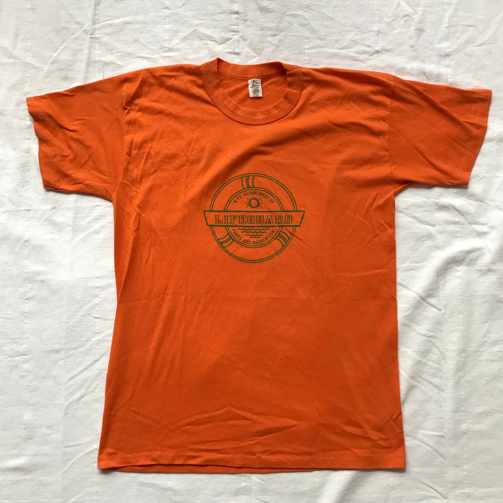 80s NYC parks and rec lifeguard tee. L/XL