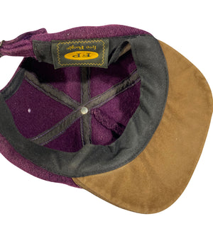 Wool and leather hat