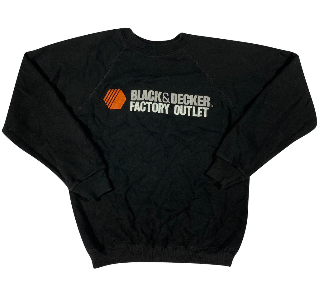 80s black and decker outlet sweatshirt S/M