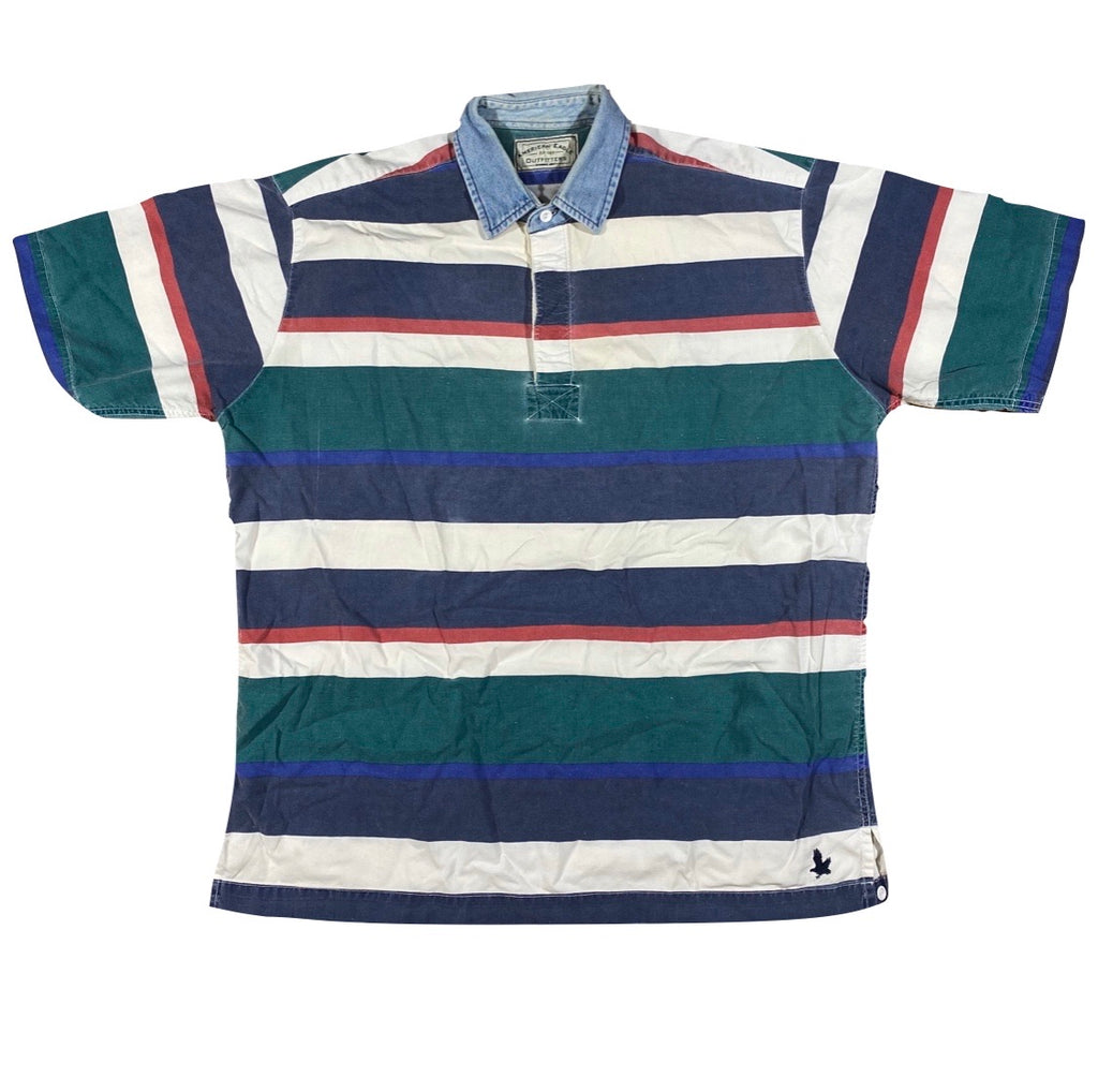 90s American eagle rugby. short sleeve polo. M/L