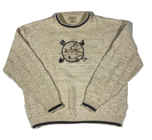 Astronomer embroidered cotton sweater. XXL