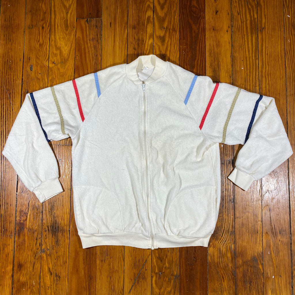 80s Terry cloth jacket. Small fit