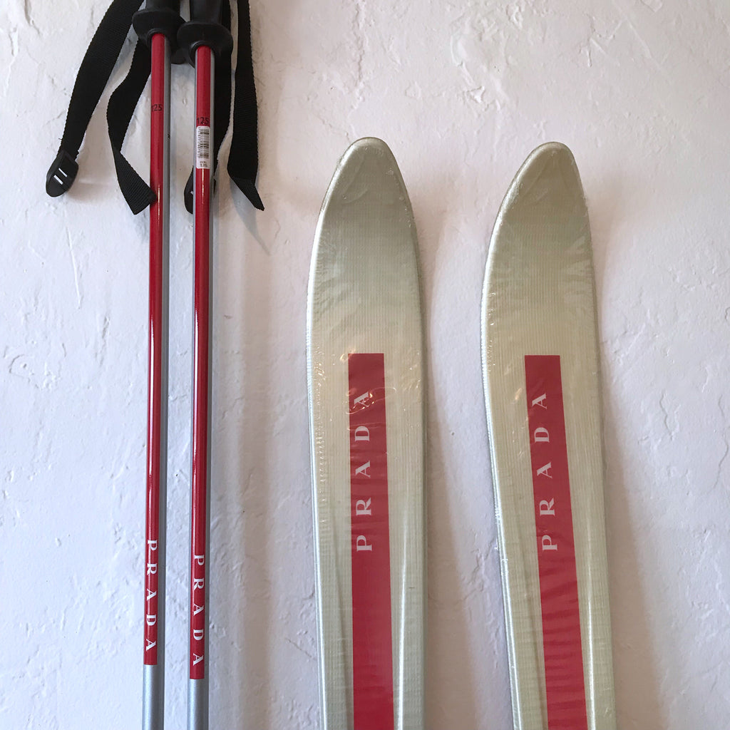 Prada skis and poles by Dynastar