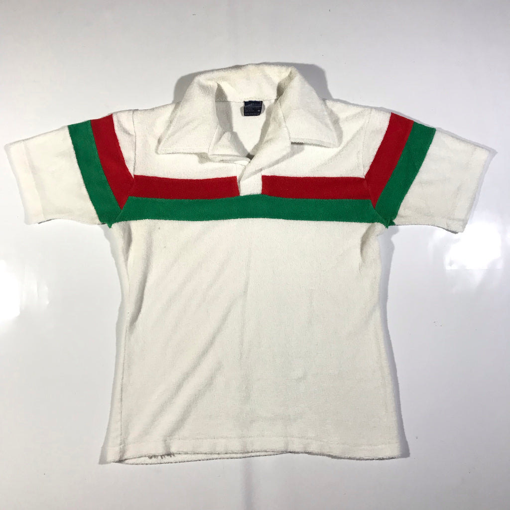 70s striped terry cloth polo Small