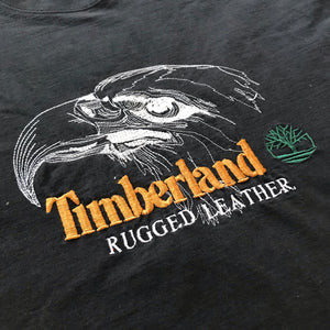 90s Timberland embroidered eagle bootleg tee.  thicc as hell. L/XL fit