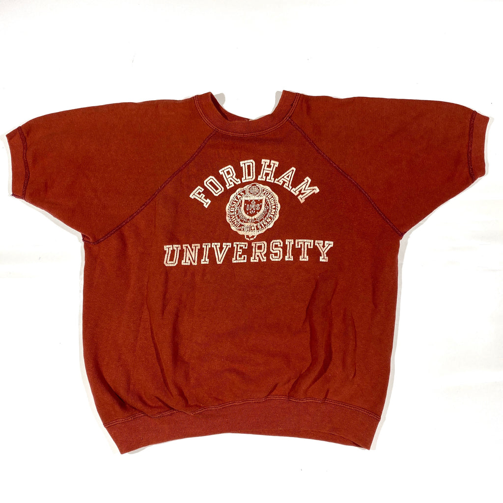 70s Champion fordham university short sleeve sweatshirt. Medium fit