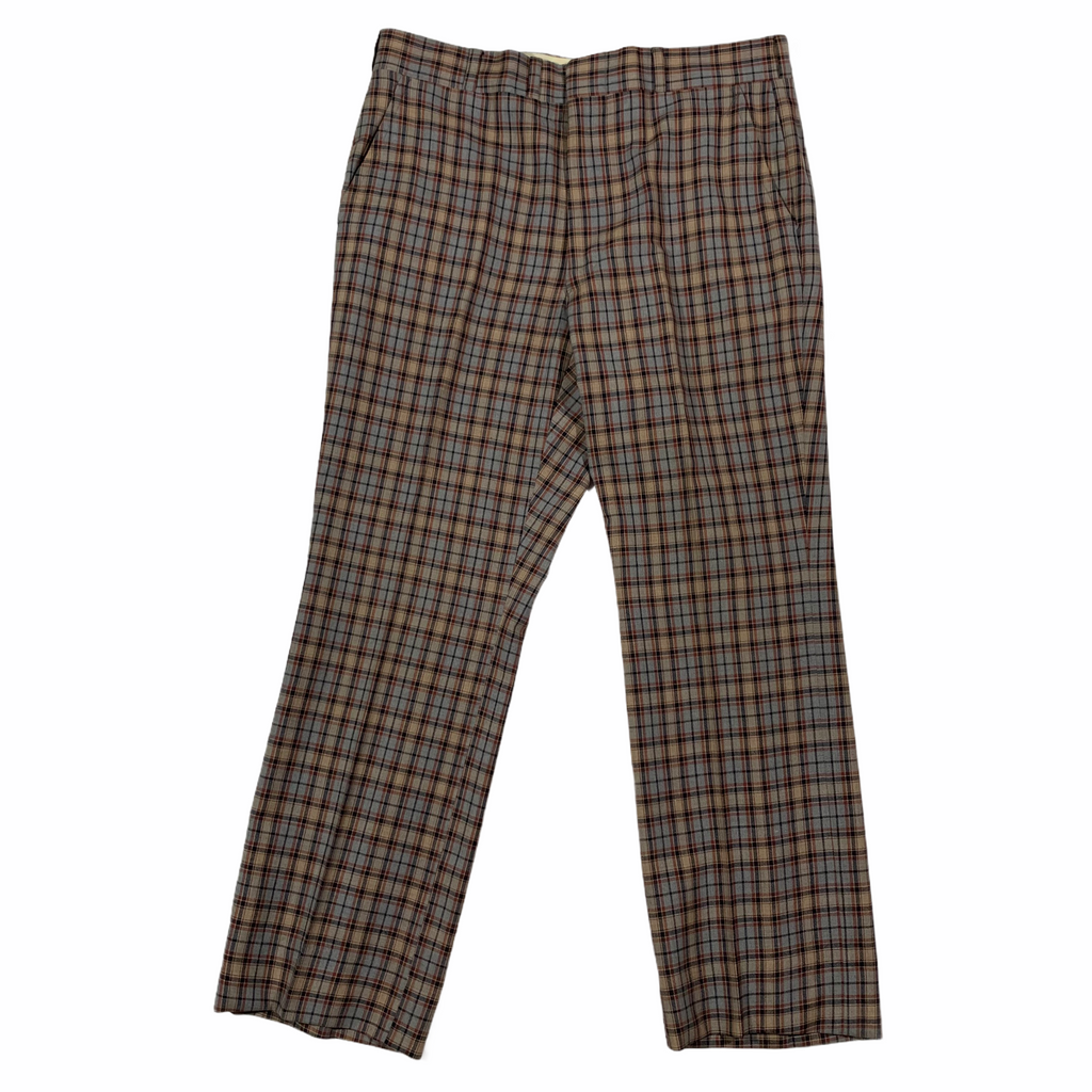 1970's plaid slacks. 36x29.