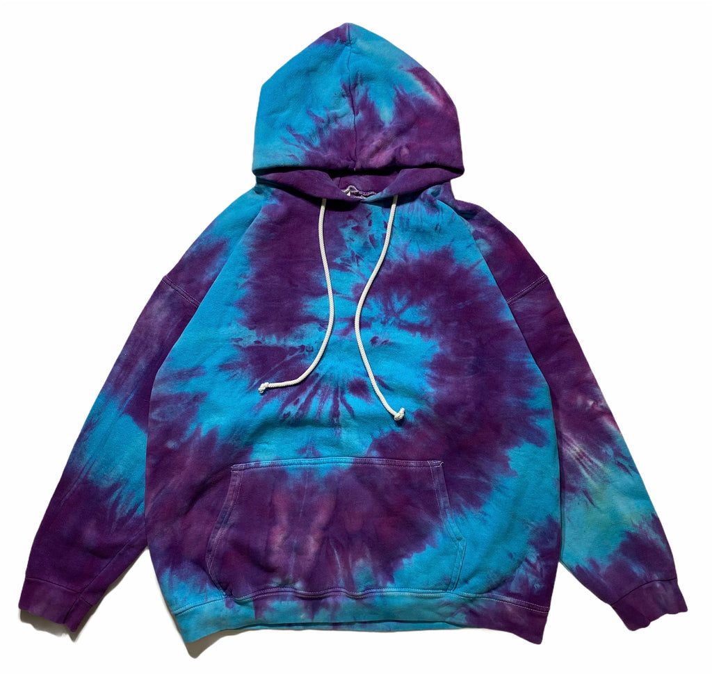 90s Tye dye heavyweight hooded sweatshirt. M/L