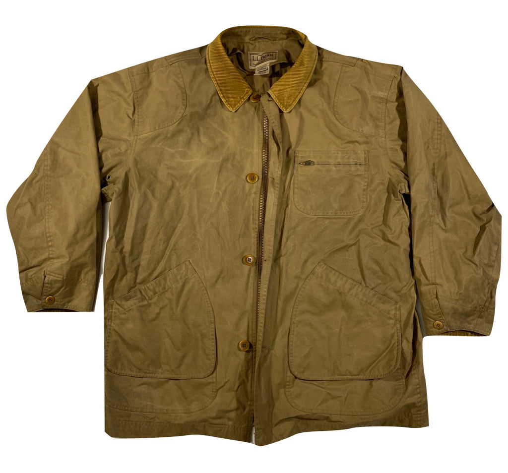 LL Bean waxed cotton jacket. XL