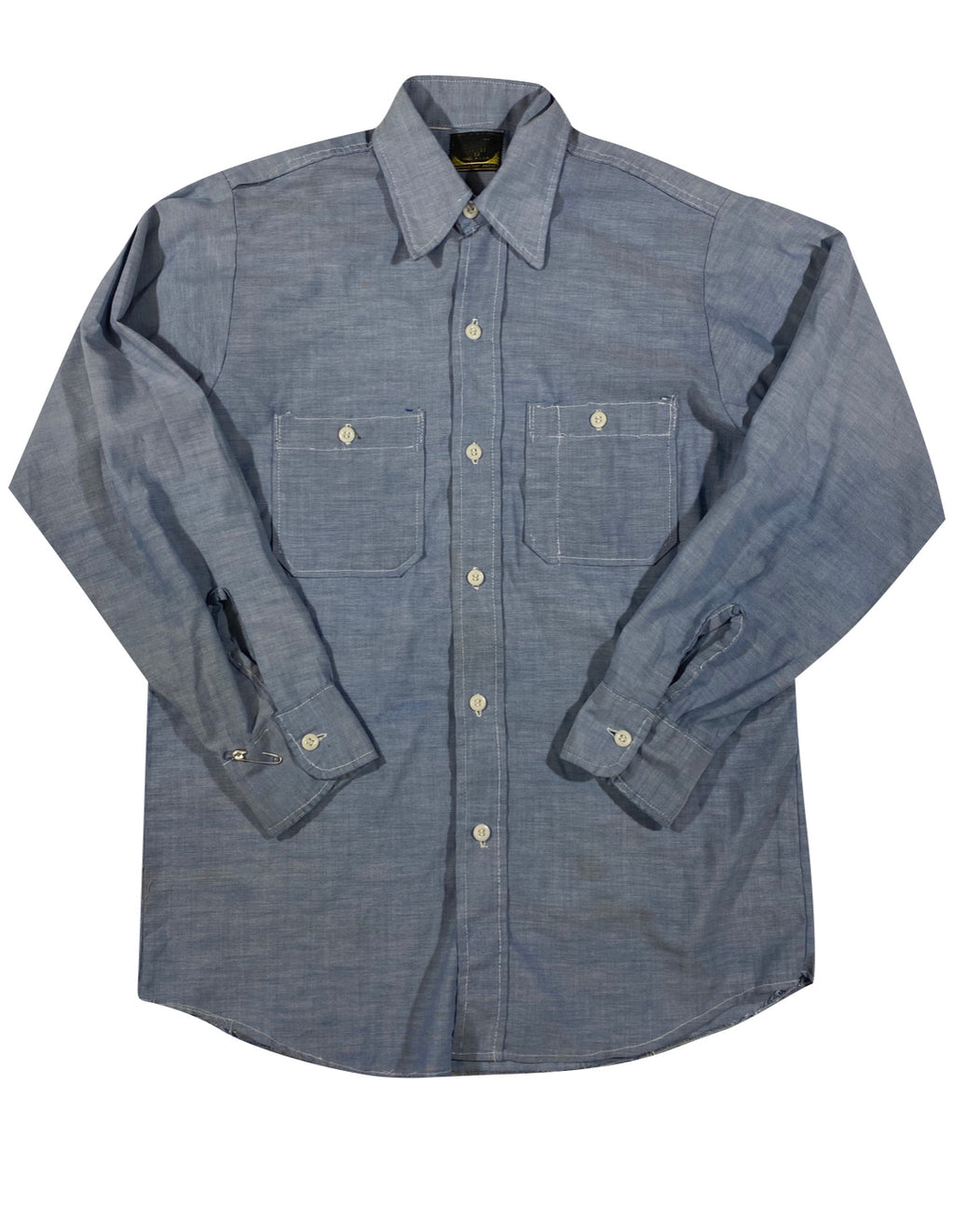 60/70s well worn chambray work shirt. Small