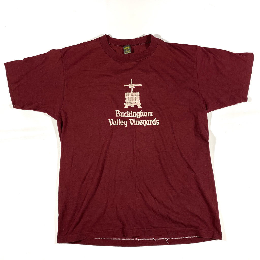 80s Buckingham valley vineyards tee. Large fit