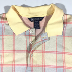 Landsend plaid polo. made in usa. L/XL