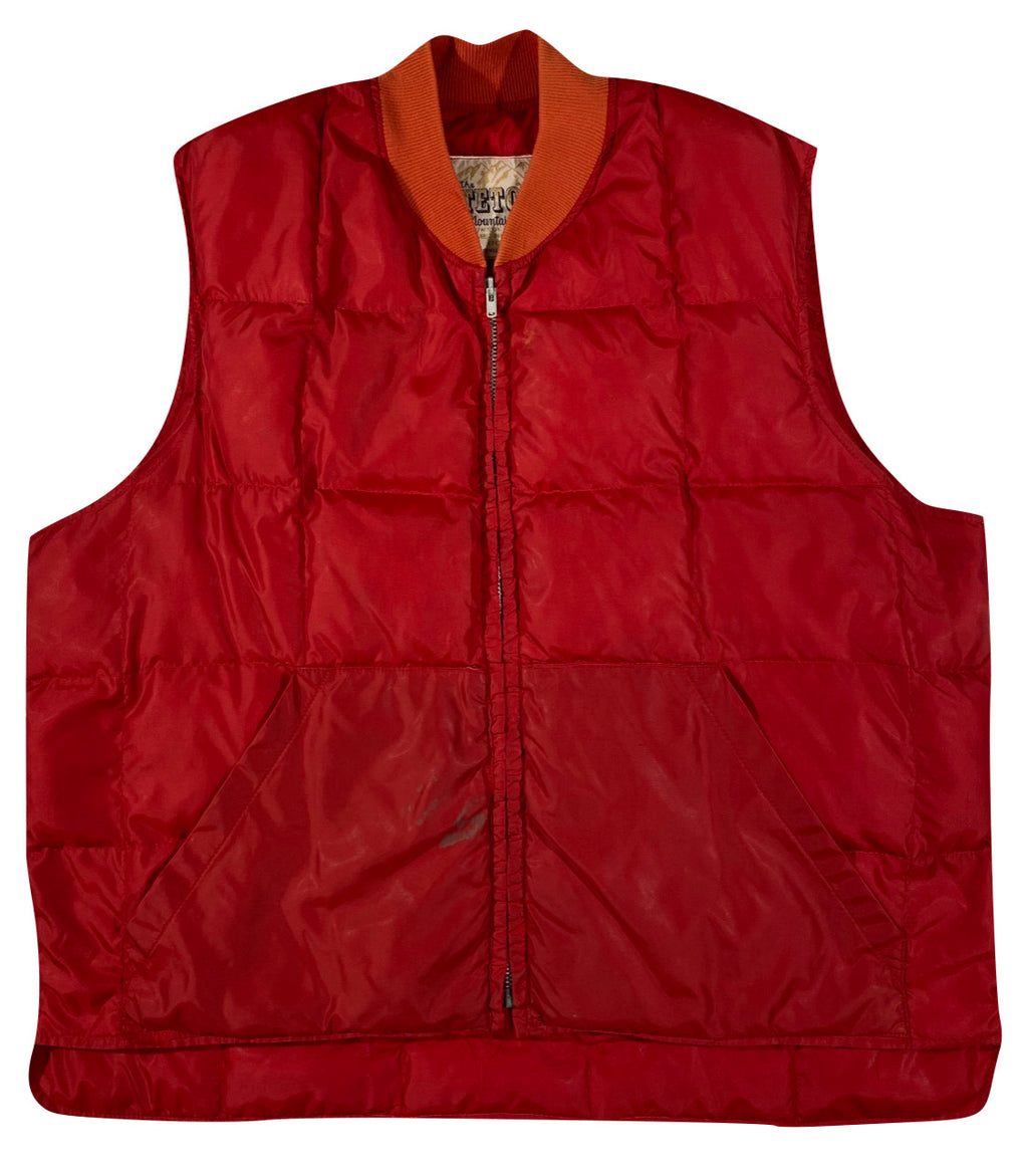 80s Teton mountain coat down vest XL