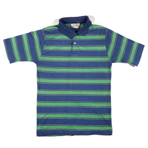 80s striped polo. medium