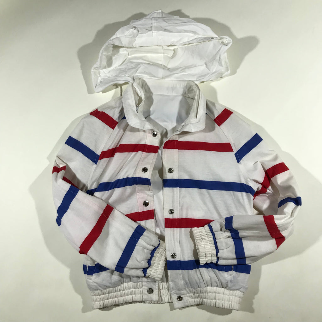 Double sided striped jacket. ladies small.