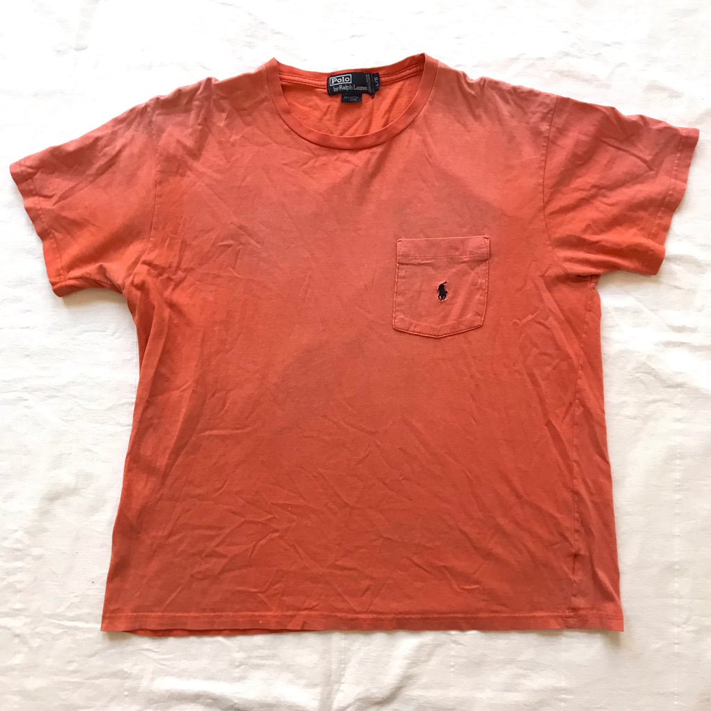 Faded Polo ralph lauren pocket tee. Large