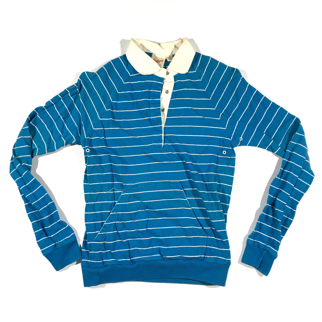 80s Snap striped rugby. pocket. XS fit