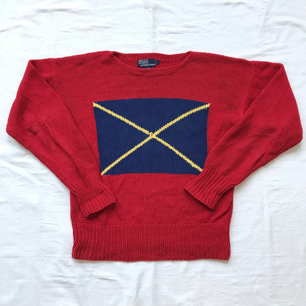 Polo ralph lauren cotton sweater medium