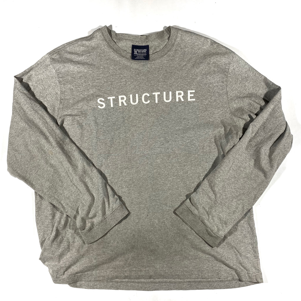 90s Structure long sleeve. Made in usa🇺🇸 XL