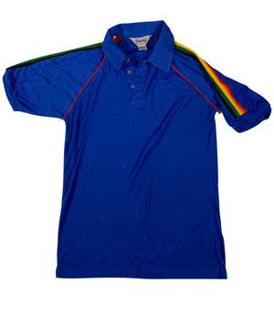 80s rainbow polo. S/M fit