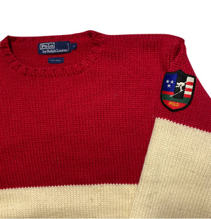 Polo suicide ski wool sweater large