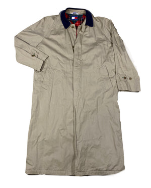 Tommy hilfiger trench coat corduroy collar. large