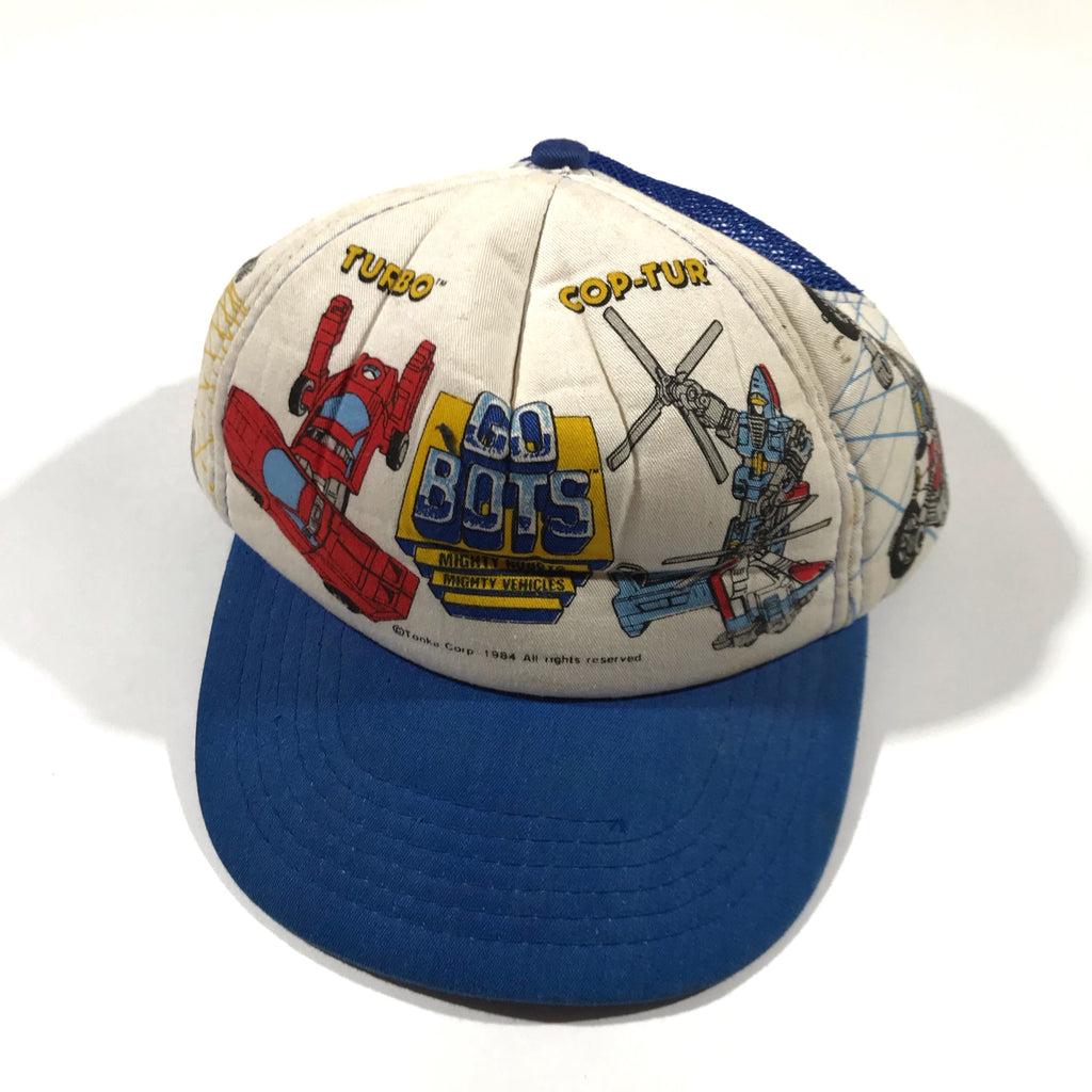 Mighty Machines Go Bots hat. Youth one size fits all.