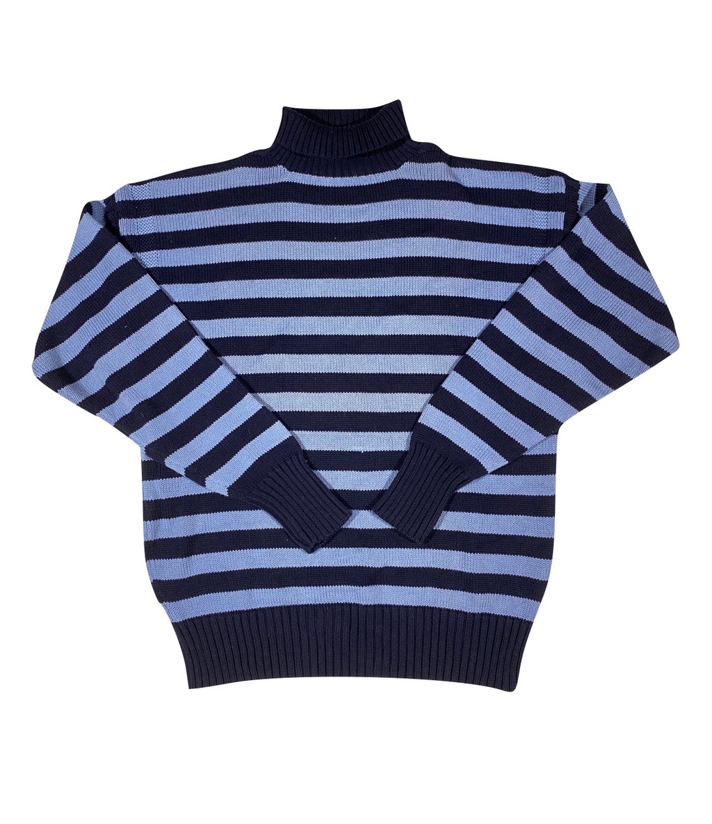 Polo country striped turtleneck. large