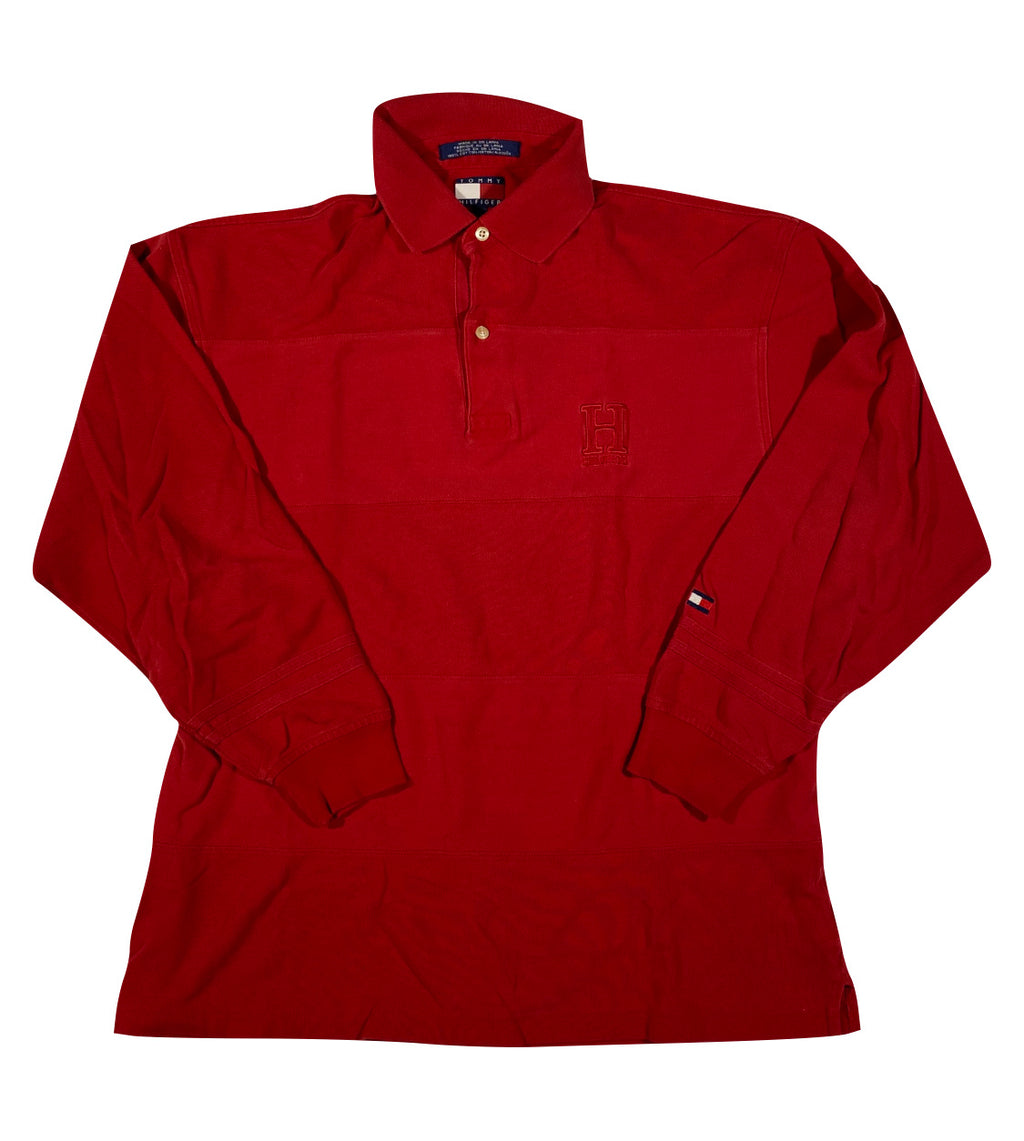 Tommy hilfiger long sleeve polo. medium