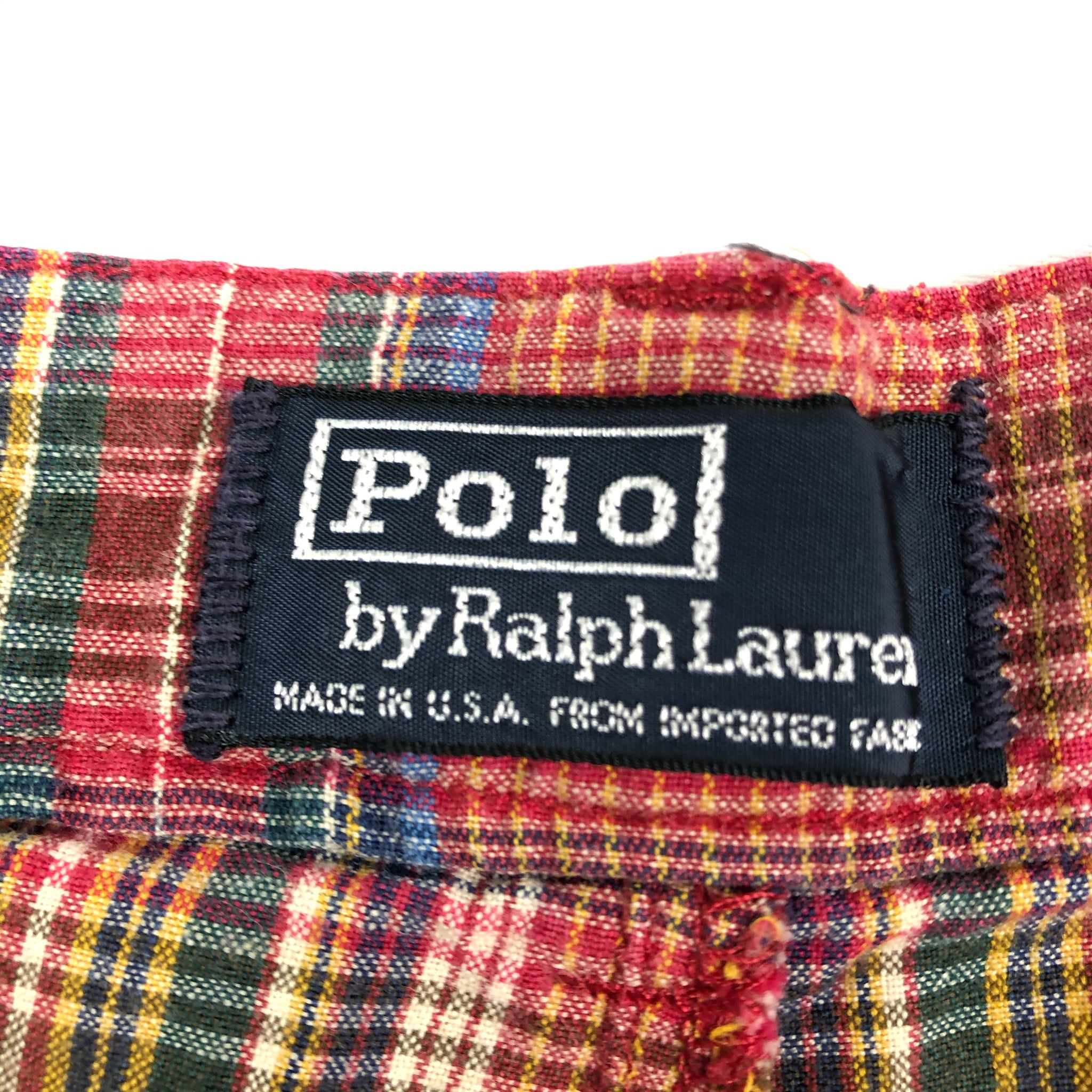 90s Polo Ralph Lauren Plaid Shorts