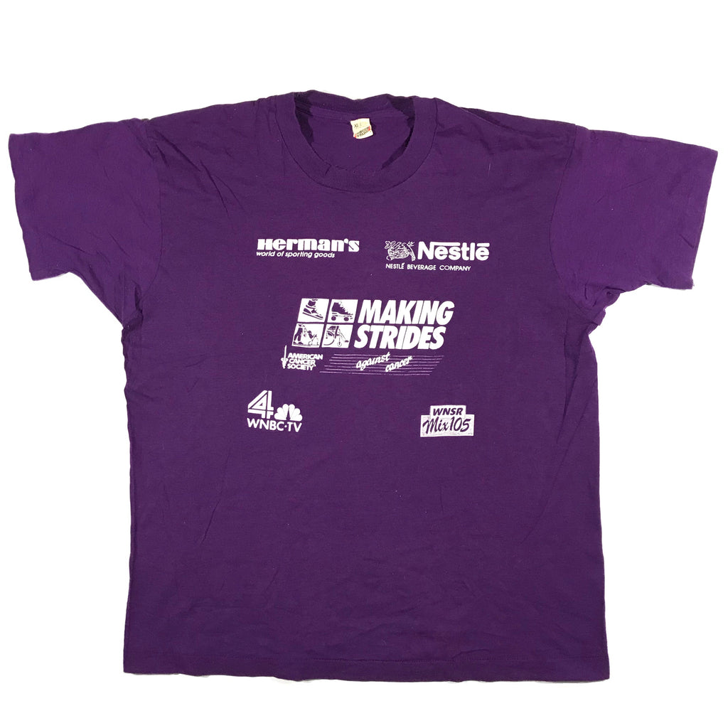 80s Strides against cancer tee. large fit