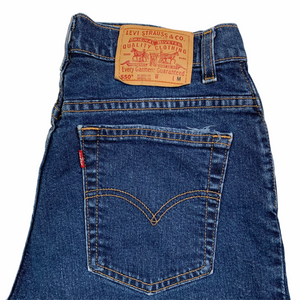 1990's Levi's 550 petite. Made in USA. 30x25.