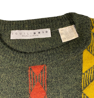 Wool Made in italy wise guy sweater. medium
