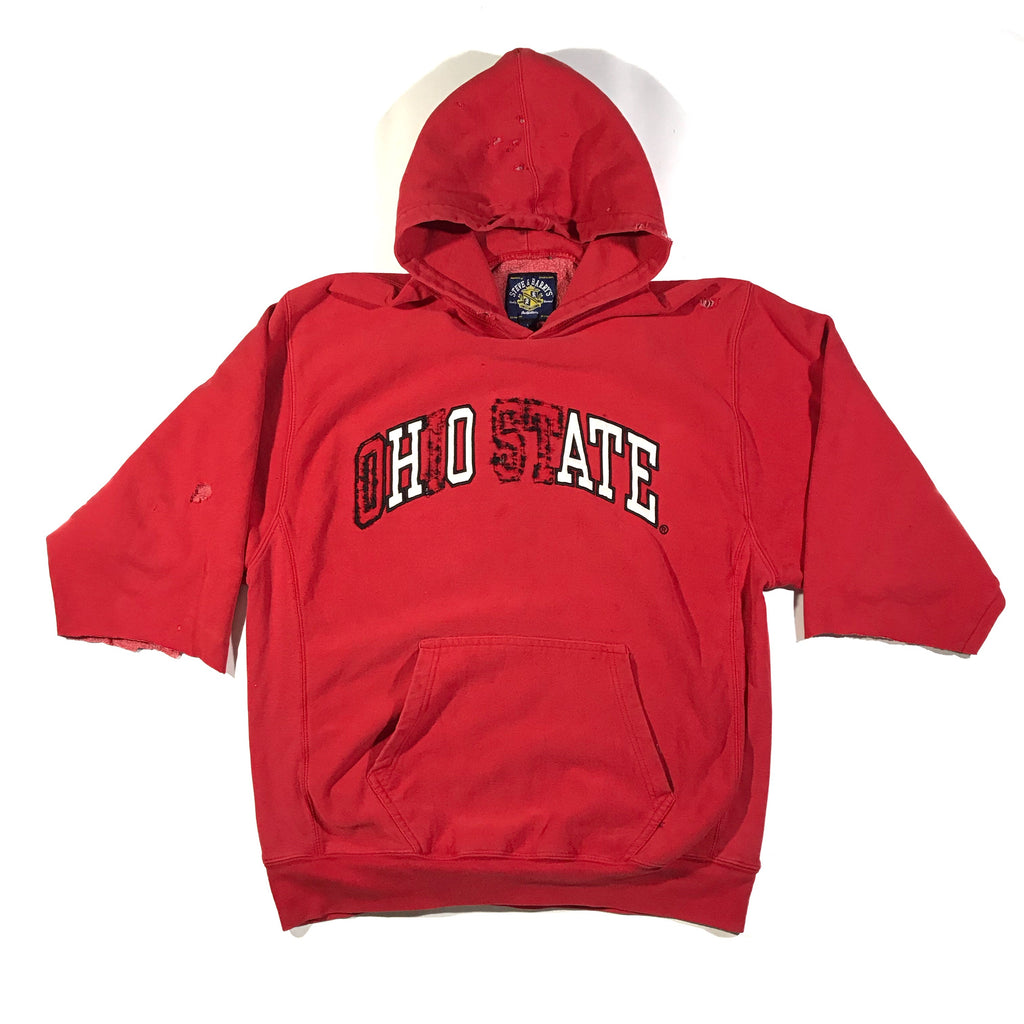 HOE OR HATE. YOU DECIDE. 1/4 sleeve thick hoodie. large