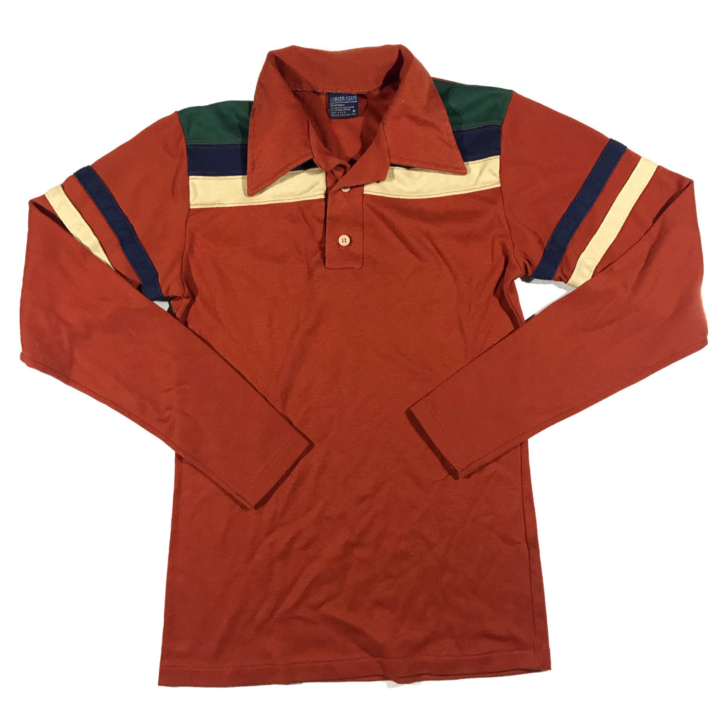 80s long sleeve polo. S/M