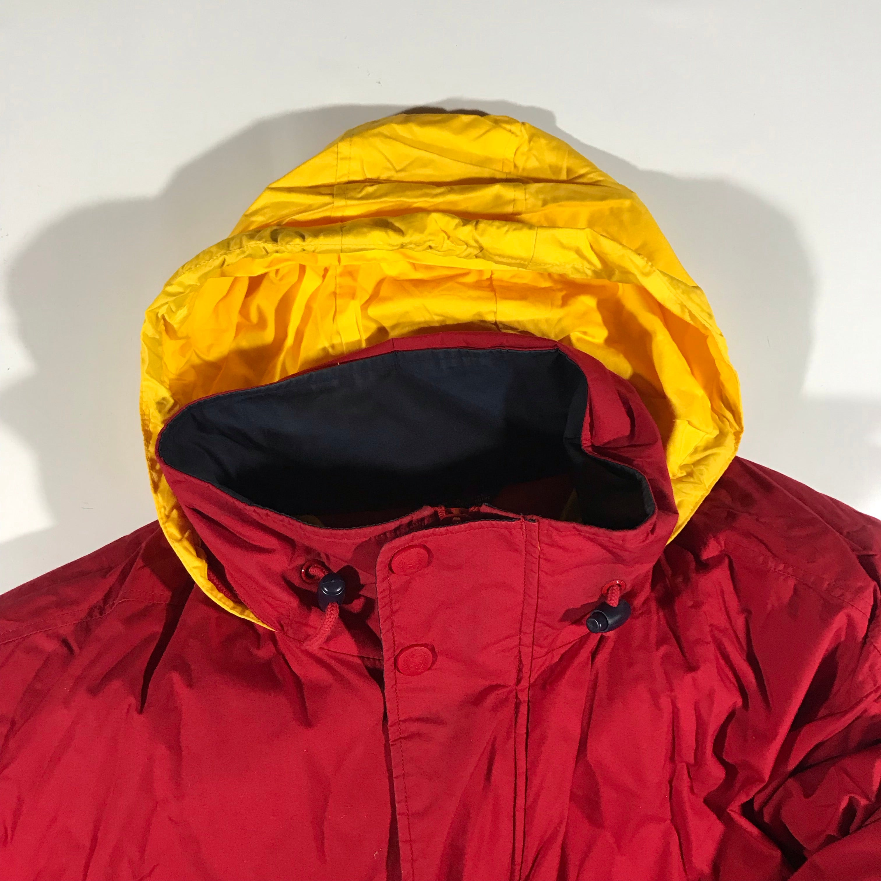 Tommy hilfiger down puffy. packable hood. XL