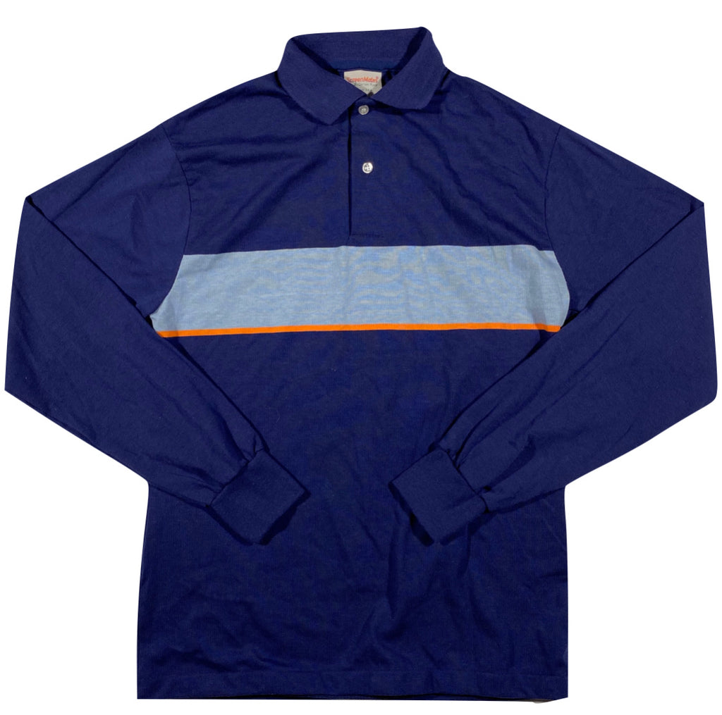 80s Longsleeve polo medium