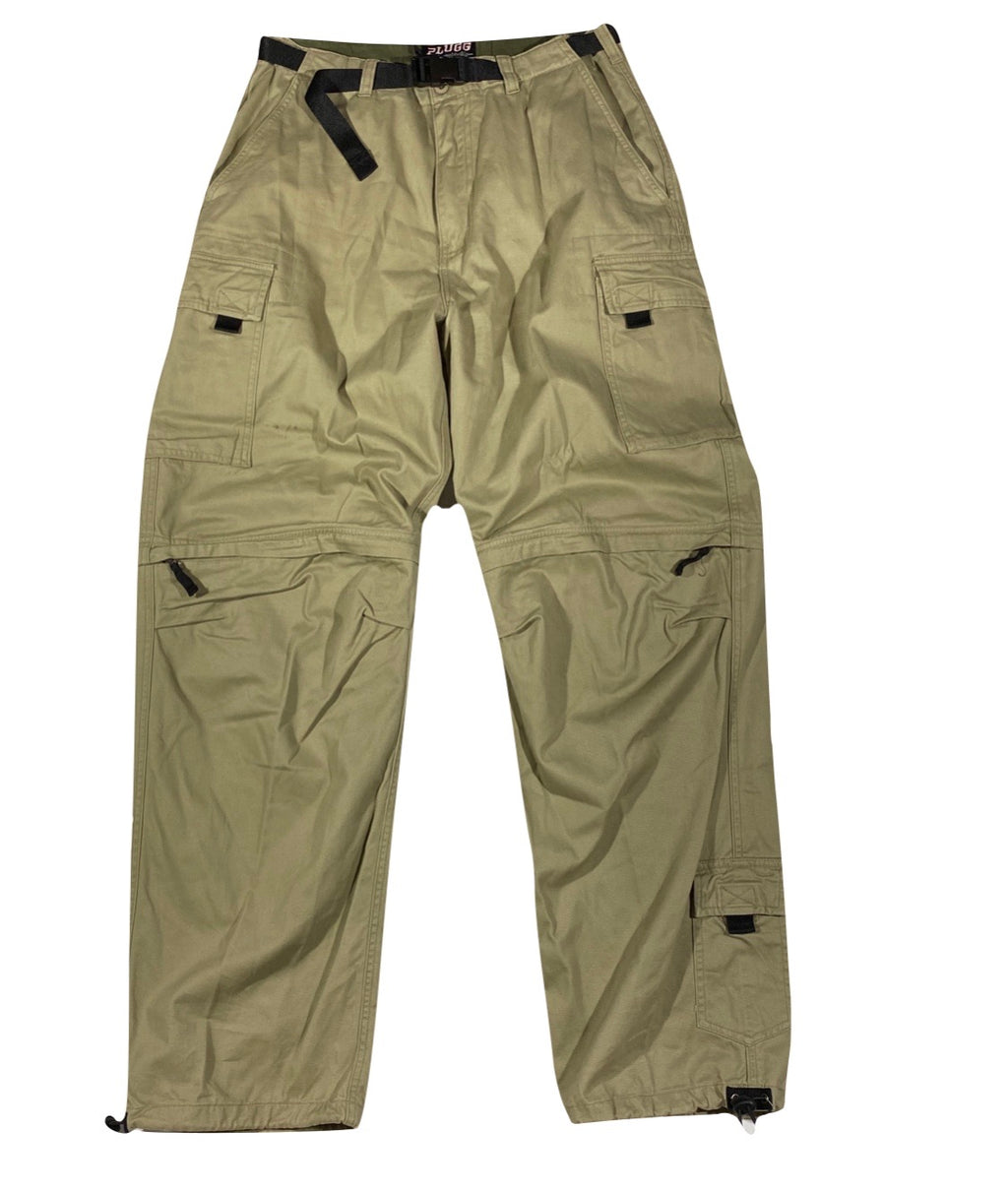 Cotton cynch zip off cargos. XL