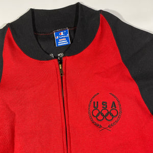 80s Champion olympic zip medium