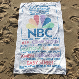 80s NBC nightly line up towel