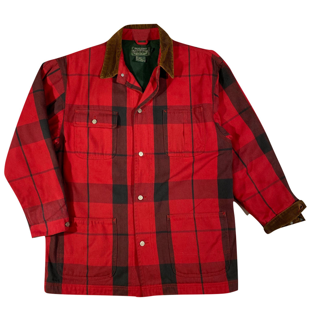 Polo country tartan chore coat Small