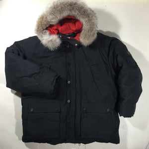 Tommy down/coyote parka jacket. extra large