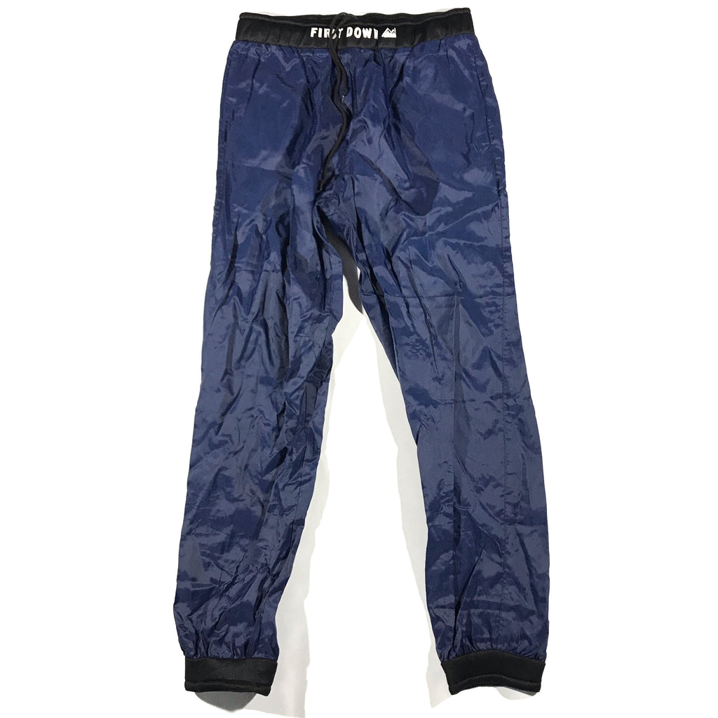 First down tech pants. designed after something you'd wear on a boat. neoprene waist and cuffs. Large