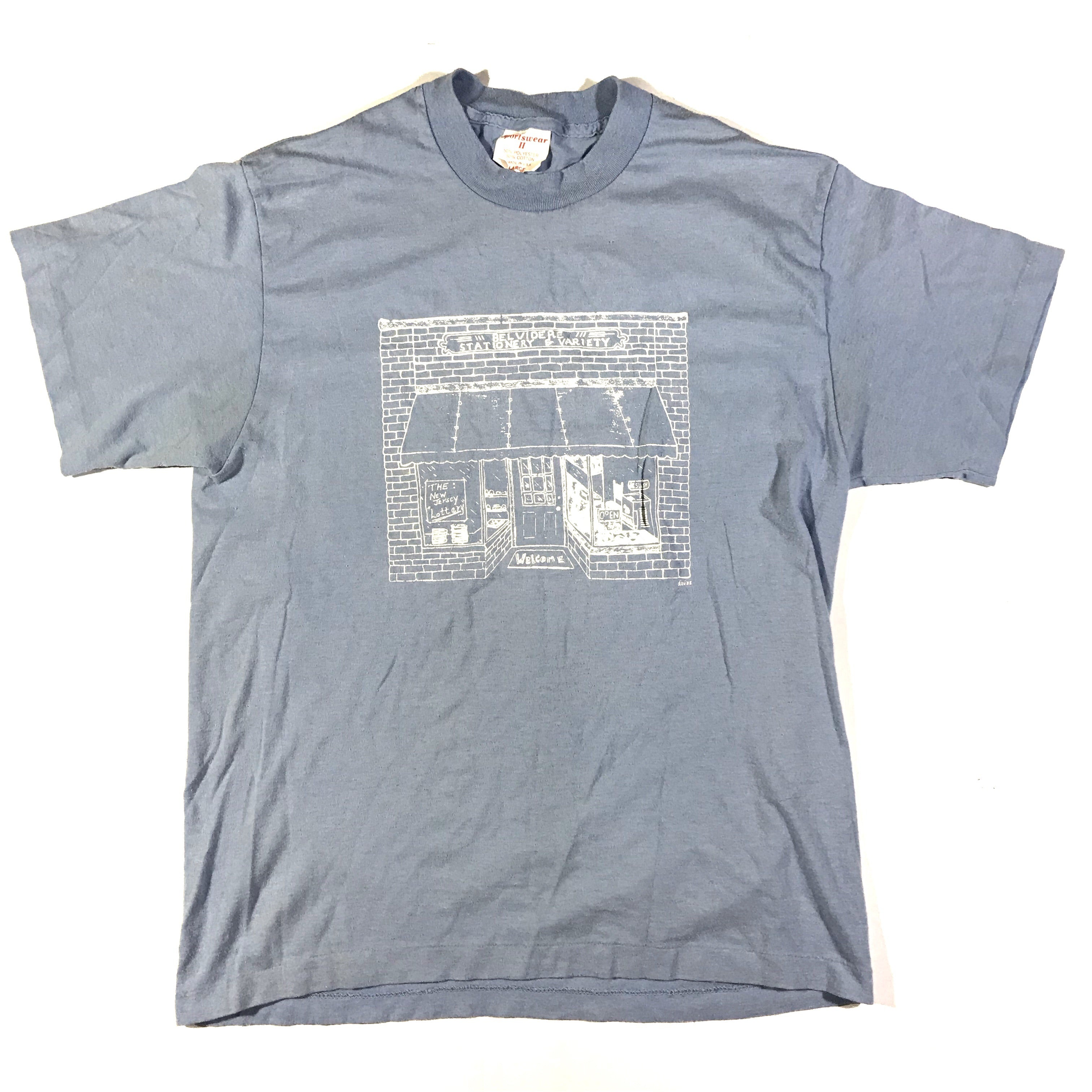 80s Belvidere store front tee. large